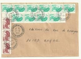 LOT & GARONNE - Dépt N° 47 = GONTAUD De NOGARET 1990 = PETIT BUREAU = CACHET A9 - Postmark Collection (Covers)