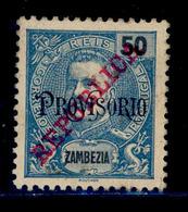 ! ! Zambezia - 1915 King Carlos 50 R - Af. 88 - No Gum - Zambezia