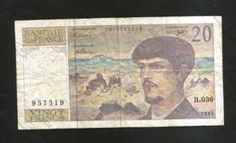 FRANCE - BANQUE De FRANCE - 20 Francs DEBUSSY (1992) - 1962-1997 ''Francs''