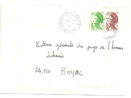 LOT & GARONNE - Dépt N° 47 = LOUGRATTE 1990 = PETIT BUREAU = CACHET A9 - Postmark Collection (Covers)