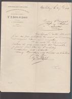 Tinchebray - Orne - Fabrique De Peignes Coiffure, Usine à Sous La Tour - Lettre 1888 Autographe Postel - France