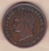 ITALIE / LOMBARDIE . 1 SOLDO 1813 M MILANO.NAPOLEONE I . TTB/BB - Temporary Coins