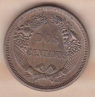 Perou 2 Centavos 1863  Copper-Nickel KM# 188.1 Sup/XF - Perú