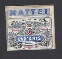 Etiquette D'Anis  -  Cap' Anis  -  Mattei à Bastia Corse (20)  -  5.3 X 4.9 Cm - Etiquettes