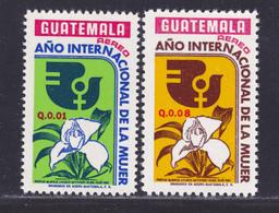 GUATEMALA AERIENS N°  567 & 568 ** MNH Neufs Sans Charnière, TB (D7889) Année Internationale De La Femme - 1975 - Guatemala