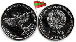Transnistria - 1 Rouble 2018 (Acherontia Atropos - UNC - 50,000Ex.) - Moldova