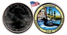 USA - Quarter Dollar - 2018 D (Voyageurs - Colorée) - Federal Issues