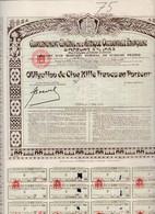 Th4  GOUVERNEMENT : AFRIQUE O. F. - Obligation De 5000 Frs1935     (22) - Actions & Titres