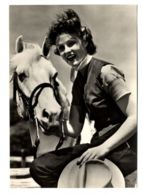 B9976 WOMAN WITH HORSE DONNA CON CAVALLO DONNINE FEMME B\W - Pin-Ups
