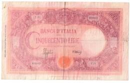 Italy 500 Lire Barbetti 08/10/1943 Restored Restaurato - [ 1] …-1946 : Koninkrijk