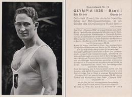 OLYMPIA 1936 - HALTÈRES : HANS GOTTSCHALK -> CHAMPION OLYMPIQUE... - À VOIR DÉTAILS AU DOS ! (z-362) - Haltérophilie