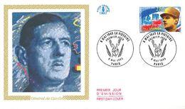 FDC Charles De Gaulle 50ème Anniversaire De La Victoire (75 Paris 08/05/1995) - FDC