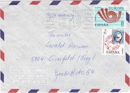30889. Carta Aerea PLAYA De ARO (Gerona) 1973 A Germany - 1931-Hoy: 2ª República - ... Juan Carlos I