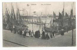 Oostende Quai Des Pêcheurs Oude Postkaart Geanimeerd CPA Ostende - Oostende