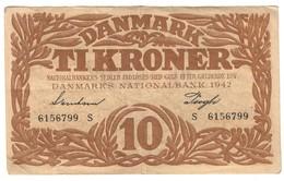Denmark 10 Kroner 1942 *V* - Danimarca