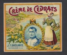 Etiquette De Crème De Cedrat  -  JT  Brégante  Ile Rousse Corse (20) - Etiquettes