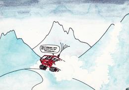 DELAUNAY Guy  Ed Mythra  D26  - Humour  Ski  Dameuse -   CPM  10,5x15  état Luxe 1984 Neuve - Illustrators & Photographers