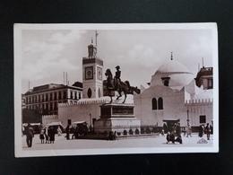 Alger - Statue Du Duc D'Orleans Et Mosquee Djama Djedid - Real Photo - Altri