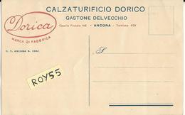 Marche-ancona Calzaturificio Dorico Marca Di Fabbrica Dorica Pubblicita Scarpe Anni 20 Cartolina Ricevuta (v.retro) - Ancona