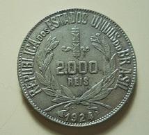 Brazil 2000 Reis 1924 Silver - Brésil