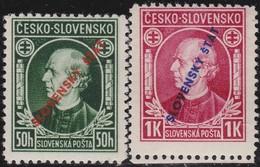 Slowakije    .       Yvert  30/31   .      *       .        Ongebruikt Met Plakker  .   /   .   Mint Hinged - Slowakije
