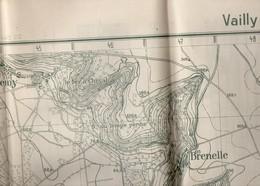 CARTE  ETAT MAJOR ALLEMAND NOV 1916 Region LESGES  VAILLY CERSEUIL BRAISNE Dos Carte  Village Position Soldats - Documenti