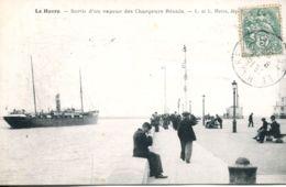 N°68057 -cpa Le Havre- Sortiee D'un Vapeur- - Commerce