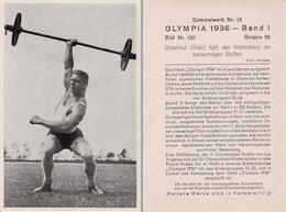 OLYMPIA 1936 - HALTÈRES : OBSCHRUF. -> WORLD RECORD / POUSSE à DUEX BRAS - À VOIR DÉTAILS AU DOS ! (z-362) - Haltérophilie