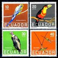 ECUADOR 1958** - Uccelli / Birds - 4 Val. MNH, Come Da Scansione. - Uccelli