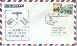 POSTMARKET  1976   RAID MANILA - MADRID - Filipinas