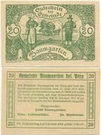 Baumgarten Bei Perg, 1 Schein Notgeld 1920, Bauern Tracht, Österreich 20 Heller - Oesterreich