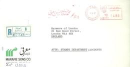 LETTER REGISTERED  SAFAT 1987 - Kuwait