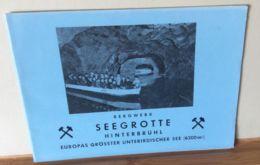 Seegrotte Hinterbühl 8 Seiten Broschüre - Souvenirs