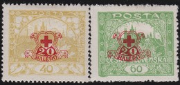 Tsjechoslowakije    .       Yvert  182/183     .      *       .        Ongebruikt Met Plakker  .   /   .   Mint Hinged - Tsjechoslowakije