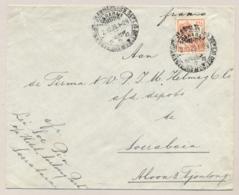 Nederlands Indië - 1926 - 12,5 Cent Wilhelmina Met Scheepje Met Propagandastempel Jaarmarkt Op Lokale Cover Soerabaja - Nederlands-Indië