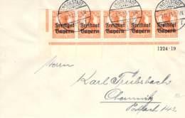 Freistaaat Bayern Sammlerfrankatur Eckrand M.HAN Ingolstadt 1919 - Briefe U. Dokumente