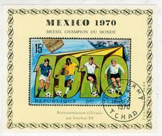 TCHAD   MEXICO  1970   BRESIL  CHAMPION  DU  MONDE     USATO - Ciad (1960-...)