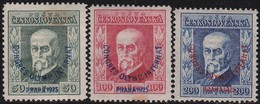 Tsjechoslowakije    .       Yvert  203/205     .      *       .        Ongebruikt Met Plakker  .   /   .   Mint Hinged - Tsjechoslowakije