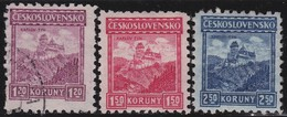 Tsjechoslowakije    .  Yvert  206/208 (206: * )  .      *   .    Ongebruikt Met Plakker  .   /   .   Mint Hinged - Tsjechoslowakije
