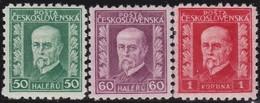Tsjechoslowakije    .  Yvert  213/215    .      *   .    Ongebruikt Met Plakker  .   /   .   Mint Hinged - Tsjechoslowakije