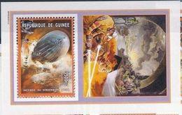 Guinee 2001 Pompiers Fire Men  Zeppelin MNH - Sapeurs-Pompiers