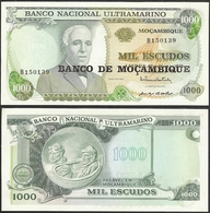 MOZAMBIQUE - 1000 Escudos ND (1976, Old Date 1972) P# 119 UNC - Edelweiss Coins - Mozambique