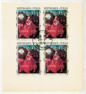 REPUBLIQUE DU TCHAD   NOEL  1970   LA  MADONE A' L' ENFANT      (BLOCK  0F 4)     USATO - Ciad (1960-...)