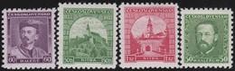 Tsjechoslowakije    .  Yvert  281/284     .      *   .    Ongebruikt Met Plakker  .   /   .   Mint Hinged - Ongebruikt