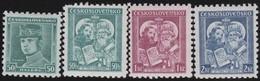 Tsjechoslowakije    .  Yvert  298/301    .      *   .    Ongebruikt Met Plakker  .   /   .   Mint Hinged - Tsjechoslowakije