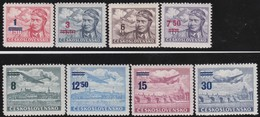 Tsjechoslowakije    .  Yvert  Airmail  28/35     .      *   .    Ongebruikt Met Plakker  .   /   .   Mint Hinged - Luchtpost
