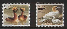 Iceland Island 1991 Birds Horned Grebe (Podiceps Auritus) And Northern Gannett (Morus Bassanus)  Mi 738-739, MNH(**) - Neufs
