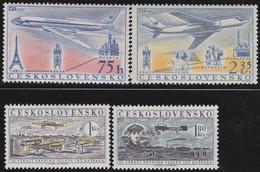 Tsjechoslowakije    .  Yvert  Airmail  45/48     .      *   .    Ongebruikt Met Plakker  .   /   .   Mint Hinged - Luchtpost