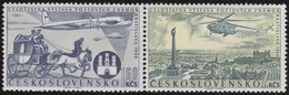 Tsjechoslowakije    .  Yvert  Airmail  49/50     .      *   .    Ongebruikt Met Plakker  .   /   .   Mint Hinged - Luchtpost
