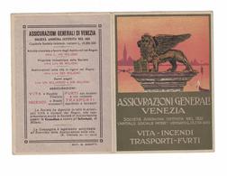 CALENDARIETTO  ASSICURAZIONI GENERALI VENEZIA 1920  SEMESTRINO - Calendari